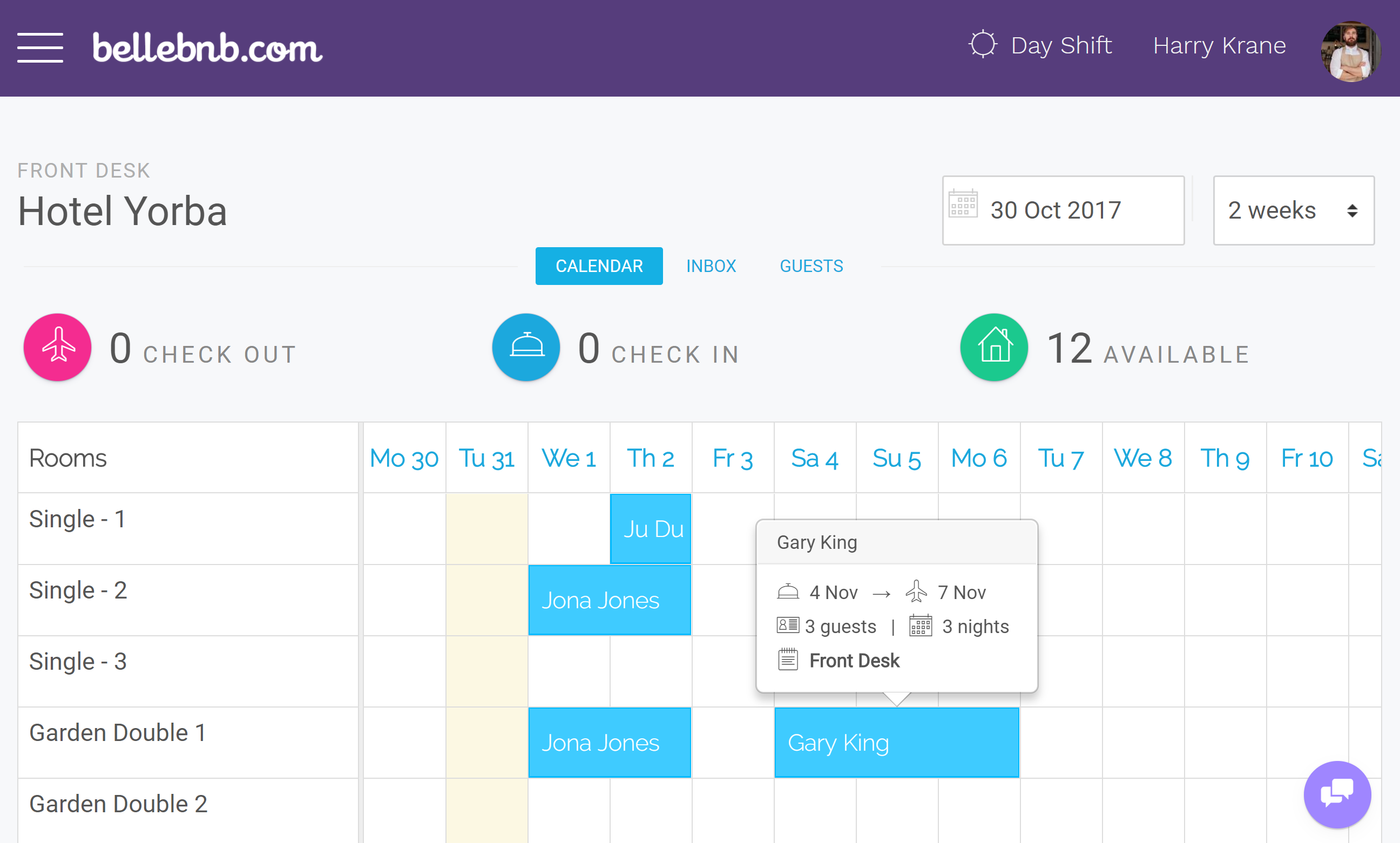 Hotel Drag-n-Drop Calendar Your reservations calendar has been updated to make it even easier to manage your hotel's daily activity. You can now drag and resize to create and reschedule bookings.