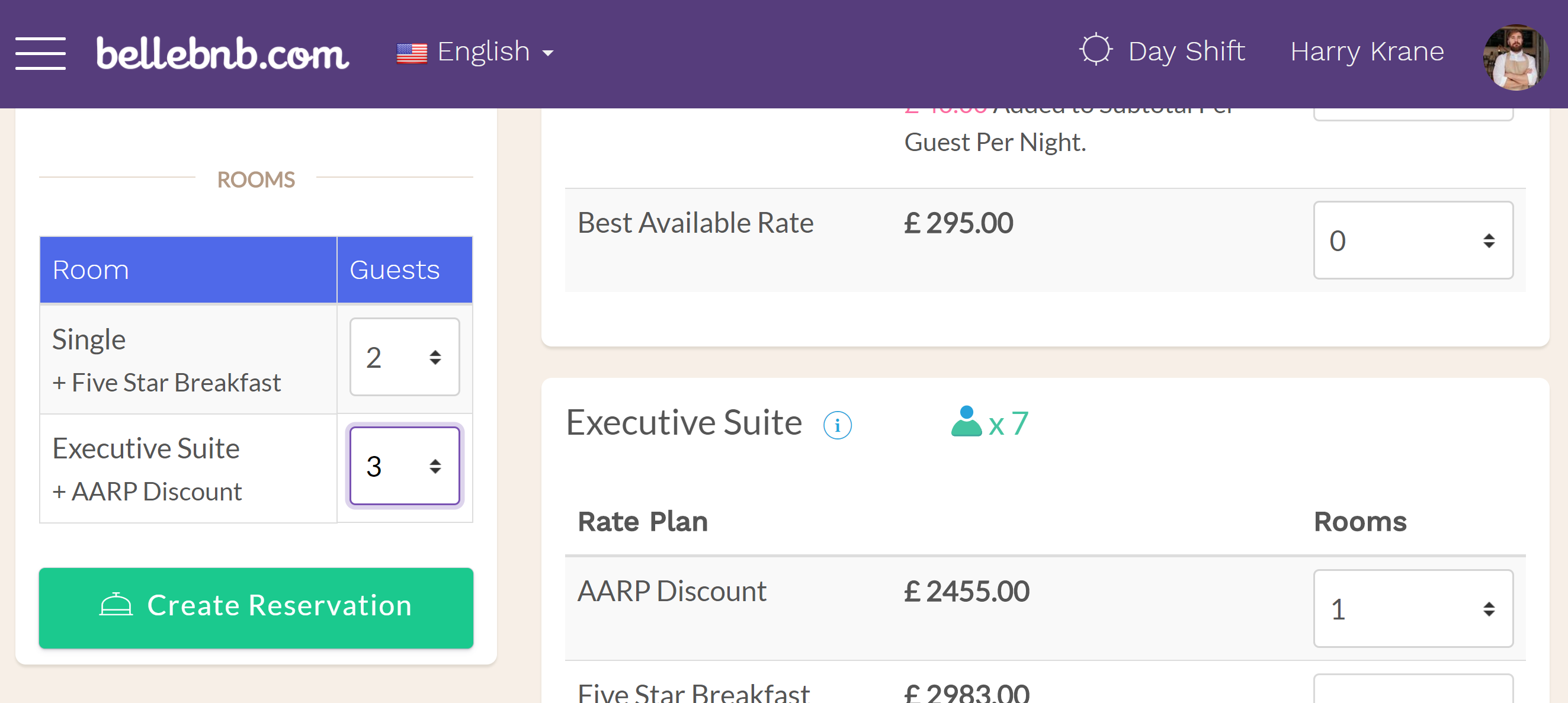 Hotel PMS Software Once you have added the rooms to your booking, select the number of guests for each room, then click 'Create Reservation.' Review the details for all the rooms in the reservation, then click to create.