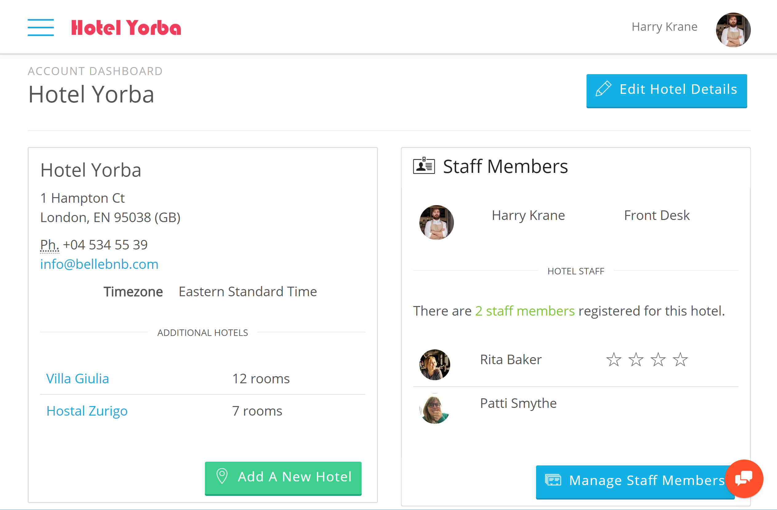Group Hotel Management Software in the Cloud Bellebnb platform to accommodate hotel chains, groups, and agencies