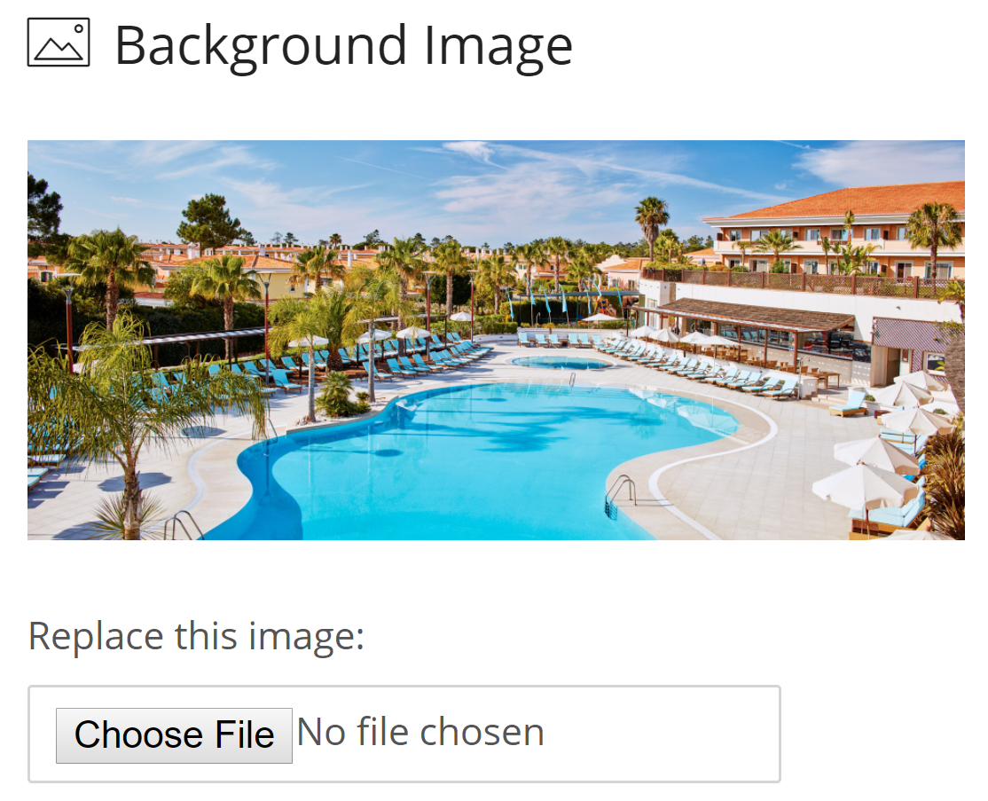 Add Photos and Text to your hotel booking engine to make your rooms attractive to potential visitors